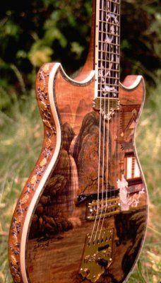 """China"" guitar by Robinson Custom Inlays"