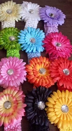 Gerbera headbands! available now!