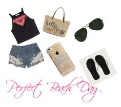 """A day at the Beach"" by clydon-1 on Polyvore featuring H&M, Abercrombie & Fitch, Straw Studios, Ray-Ban and Agent 18"