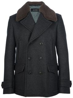 GUCCI Shearling Collar Peacoat