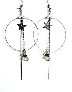 Acrylique GRAND COEUR Poupée lettres forme Dangle Boucles d/'Oreilles Clous Femmes Bijoux 1 Paire