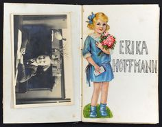 Erika Hoffmann's personal album. Erika was born in Vienna, Austria, and came to Holland with her family in 1939. In May 1943, a few months before her 12th birthday, Erika was deported to the Sobibor death camp, and murdered on arrival.