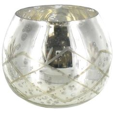 Silver Mercury Glass Large Roly Poly Votive Holder   Shop Hobby Lobby 3 sizes on a tray of moss as centerpiece