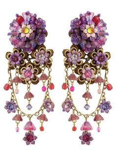 Michal Negrin Jewelry | Michal Negrin Jewelry Clip On Flowers Earrings - 028