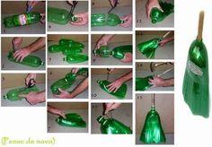En lugar de convertirse en basura, estas botellas plásticas pueden ayudarnos a barrer la basura.  ¿Cómo? Muy sencillo: transformándolas en ...