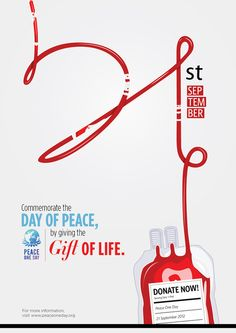 Peace One Day by Ker Yun, via Behance