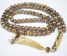Lavender and Gold Prayer Beads