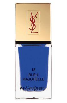 Yves Saint Laurent 'La Laque Couture' Nail Lacquer | Nordstrom  #18 Bleu Majorelle