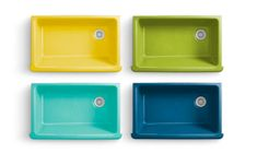 A green kitchen sink by Jonathan Adler for Kohler.....this is EXACTLY the sink I want for my kitchen!!! :)