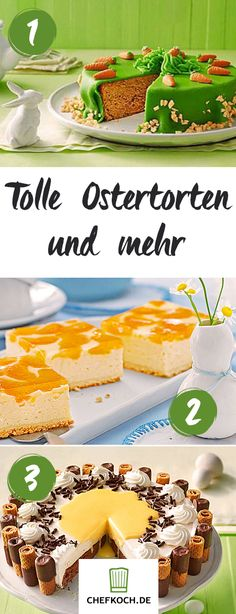Osterkuchen, Ostertorte und süße Kleinigkeiten