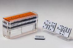 Domino Sets with Racks - Orange