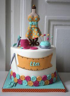 Dressmaker Taylor Dummy Sewer Cake