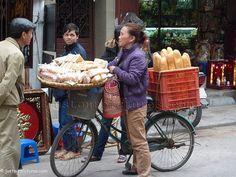 Bread shop on a bicycle. Hanoi. Vietnam.