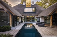 Farmhouse Architecture, Industrial Architecture, Modern House Facades, Modern Pools, A Frame House, Forest House, Stone Houses, Facade House, Classic House