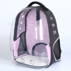2018 New Pet Dog backpack Transparent Breathable Puppy Cat Bag Top Quality Fashion Dog Outdoor Carrier Bag Pet Products Cat Backpack Carrier, Dog Backpack, Cat Carrier, Rabbit Carrier, Airline Pet Carrier, Pet Dogs, Pets, Cat Bag, Cat Photography