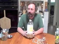 Real homemade vinegars, malt, wine and apple. He shows how to make the mother.