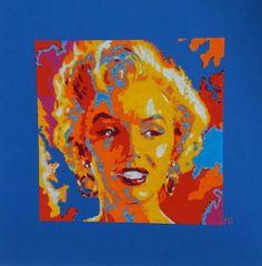 Quadro a punto croce - Copia di opera di Vladimir Gorsky raffigurante Marilyn di Newpenelope su Etsy