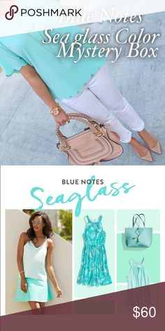 SALE‼️Blue Notes Seaglass Mystery Box (4 PIECES) It's all in the blue family! From turquoise to cerulean, mix & match tonal separates for a cool take on the monochrome trend. Leave your top untucked for a flirty (& breezy) feel—it should skim at or above your hips for a balanced look. Items will be in excellent condition. Box comes with 4 pieces Brands might include: J.Crew, Banana Republic , H&M, Ann Taylor , Loft, forever21 &  More. NO RETURNS/EXCHANGES!  Supported by Poshmark! Buyers buy…
