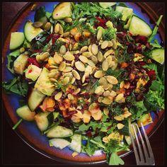 Arugula salad! #vegan #glutenfree Vegan Catering, Arugula Salad, Black Eyed Peas, Kung Pao Chicken, Glutenfree, Gypsy, Salads, Vegan Recipes, Ethnic Recipes