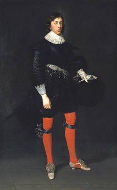 *** 1st Duke of Hamilton, 1624   Artist: D. Mytens - open cut -embroidery/painting - squarish last