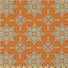 Heirloom Voile Tile Flourish Amber by Joel Dewberry for Free Spirite/Westminster