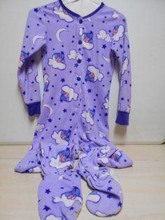 Disney Purple Footie PJ's Eeyore Long Sleeves Zip Up SIZE Small Women's Pajamas…