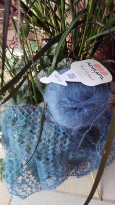 Echarpe dentelle au tricot, point Turc (Tuto)   Blog de Kabri Crochet Stitches, Knit Crochet, Sewing Tutorials, Headbands, Couture, Knitting, Diy, Blog, Sewing Stitches