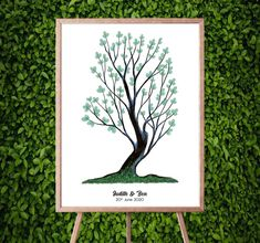 Instant Download Fingerprint Tree Judith wedding thumbprint | Etsy Bridal Shower Decorations, Birthday Party Decorations, Birthday Parties, Presentation Pictures, Fingerprint Art, Ink Color, Best Memories, Party Gifts, This Or That Questions