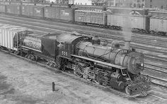 Consolidation No. 535, of class C-57 (Baldwin Locomotive Works, 1903)