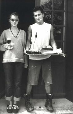 Kate Moss and Johnny Depp at the hippest cookout of all time.