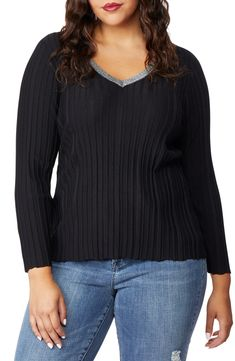 cb55549e6db Rebel Wilson x Angels Sparkle V-Neck Sweater (Plus Size)