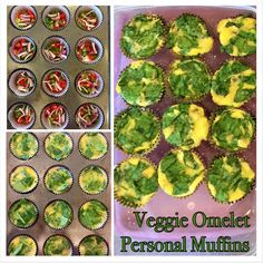 Make a batch of these personal-sized veggie omelets for a quick lean protein and veggie snacks throughout the work week.  Click this link for the recipe:  https://www.facebook.com/trishzelenakhealthylifestylecoaching/photos/a.536381906506921.1073741828.536049823206796/780971798714596/?type=3&theater
