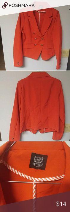 *EUC* EDGE Blazer Women's Sz Medium *EXCELLENT USED CONDITION* (Note one very small unnoticeable spot under sleeve) Edge Blazer - Orange in Color - Amazing Fit Women's Size Medium Edge Jackets & Coats Blazers