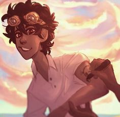 """He had Hazel draw a tattoo on his biceps with a marker: HOT STUFF, with a skull and crossbones. """"What in the world are you thinking?"""" She sounded pretty flustered. """"I try not to think,"""" Leo admitted. """"It interferes with being nuts"""" Percy Jackson Fandom, Percy Jackson Fan Art, Percy Jackson Books, Leo Valdez, Rick Riordan Series, Rick Riordan Books, Magnus Chase, Leo And Nico, Leo And Calypso"""
