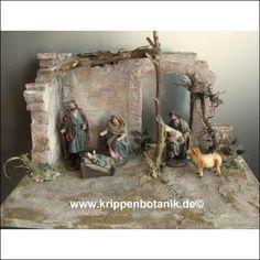 Orientalische Krippe, Weihnachtskrippe Unikat handgefertigt.
