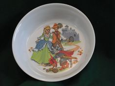 PUSS 'n BOOTS with PRINCESS Cereal Bowl from by EauPleineVintage, $4.95