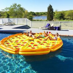 Complete Pizza Pool Float Set #Durable, #Float, #Pizza, #Pool, #Relax