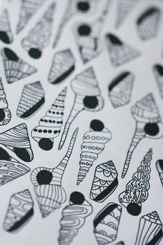 Colour In Collaboration No. 3 - Printable Colour In Pages. $5.00, via Etsy.