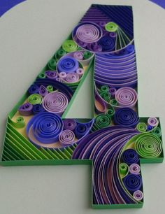Sample quilled table number by dominiquehandmade on Etsy