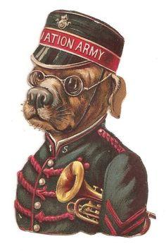 VICTORIAN ANTHROPOMORPHIC SALVATION ARMY DOG