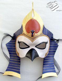 Dios egipcio del sol la máscara de cuero de Ra por B3leatherdesigns