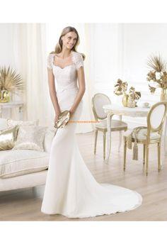 Robe de marie sirne avec manches dentelle