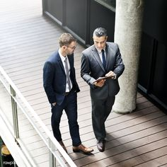 Business men walking and discussing work | premium image by rawpixel.com Interview Style, Man Office, Business Men, Office Fashion, Model Release, Image Photography, Suit Jacket, Vest, Cool Designs