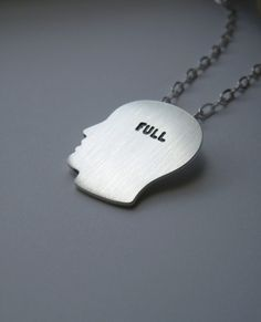 MELANIE FAVREAU-CA  FULL - sterling silver silhouette pendant