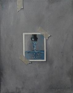 "Saatchi Online Artist: Natalie Rudebo Hörnqvist; Oil, Painting ""Trompe lòeil"""
