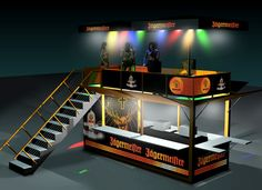 Jagermeister stage and bar.