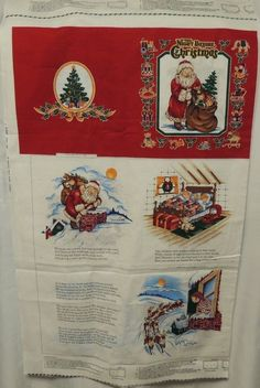 The Night Before Christmas Soft Cloth Book Uncut Fabric Panel Cranston Print  #CranstonPrintWorksCompany