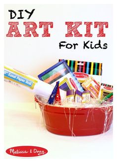 DIY Art Kit for Kids The Perfect Gift *Love this