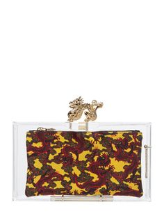 Dragon Pandora Box Clutch from Charlotte Olympia on Gilt