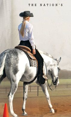 Classic horse show look - white shirt with dark chaps and hat. This always looks classy! (from Equine Chronicle May/June My Horse, Horse Love, Horse Tack, Breyer Horses, Pretty Horses, Beautiful Horses, Aqha Western Pleasure, Western Horsemanship, Western Show Clothes
